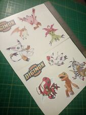 2x Digimon Sticker Set,