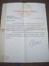1930 CORTINA D´AMPEZZO LETTERA AUTOGRAFA APOLLONIO PROPRIETARIO DELL'HOTEL SAVOY