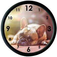 FRENCH BULLDOG PHOTO WALL CLOCK - DOG BREED ANIMAL PUPPY PET LOVER GIFT