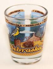NEBRASKA STATE WRAPAROUND SHOT GLASS SHOTGLASS