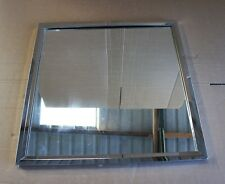 Near Perfect Chromed 60cm x 60cm Bathroom Hallway, Dinning Room Bevelled Mirror