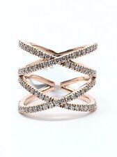14K Rose Gold Double X Diamond Ring; 0.88 CTTW; Original Price: $3,265