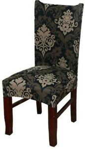 4PC Spandex Elastic Floral Printing Dining Chair Slipcover Modern Removable