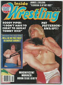 Inside Wrestling Magazine Back Issue October 1982 -Andre The Giant/Pat Patterson
