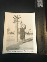 Photograph. Vintage. Young Boy Child Dressed In Cowboy Outfit. USA 1949