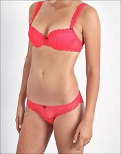 Heidi Klum Intimates IL Primo Amore Lace Contour Balconette Bra 34D Valentine's