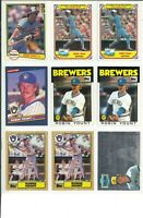 LOT OF (89) ROBIN YOUNT VINTAGE BASEBALL CARDS - MLB - MILWAUKEE BREWERS HOF