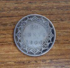 1900 Newfoundland Canada 20 Cents Silver