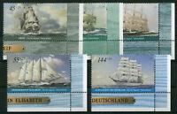 Bund 2464 - 2468 ** Eckrand Satz postfrisch BRD Ecke 4 Motiv Schiffe 2005 MNH