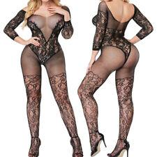Plus Size Women Sexy Lingerie Bodystockings Fishnet Babydoll Nightwear Sleepwear