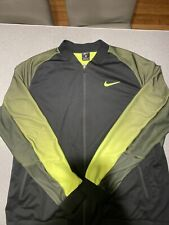 Retail $140. Nike Court Premier Tennis Jacket Black Volt #801726-010 Men's Xl