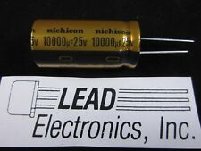 1pcs Nichicon UFW  Gold  10,000uF 25v Radial Electrolytic Capacitor for Audio