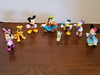 Disney MICKEY MOUSE And Friends PVC Figures Cake Toppers Toys Lot Of 8