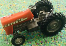 Britains Tractor Massey Ferguson MF 595 1/32 Scale - RARE Metal Red Steers Well+
