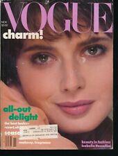 VOGUE November 1982 Fashion Magazine ISABELLA ROSELLINI Cover by RICHARD AVEDON