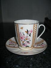 Kaffeetasse Gedeck Lomonosov alt Blumendekor Goldrand