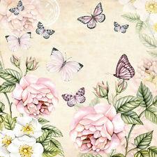 20 x Table Paper Napkin/Decoupage/Dining/Craft/Vintage/Quality/Botanical Cream
