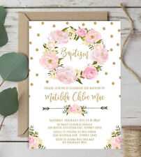 For Girls Christening Baptism Greeting Cards Invitations eBay