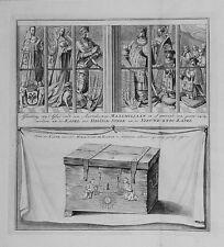 Antique map, Afbeelding van 't glas door den aartshertoge Maximiliaan …