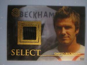 David Beckham Futera World Football 2007 Unique Real Madrid shirt card