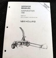 ORIG NEW HOLLAND 790 FORAGE HARVESTER SERVICE MANUAL Ser. #774036 & BELOW MINTY