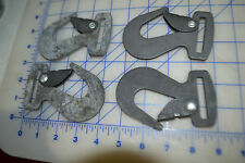 4 black flat J hook steel webbing end USA made military strap into D rings
