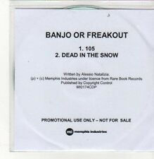 (BK492) Banjo Or Freakout, 105 / Dead In The Snow DJ CD