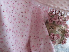 Hillcrest Rare PINK TWIN SHEET SET shabby PinK ROSES Deep Pockets cottage chic