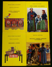 BOOK SET Polish Folk Art Kujawy regional costume pottery cooking POLAND culture