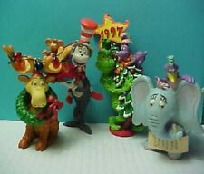 4 Dr. Seuss ornaments Cat in the Hat � Horton Thidwick The Grinch & Whozit