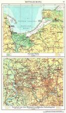 POLAND.Danzig Gdansk; Rheinisch-westfalischen Industriegebiet 1958 old map