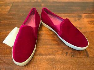 Joie Bright Magenta Velvet Slip-On Shoes, Size 35.5 (EU) 5.5 (US), New