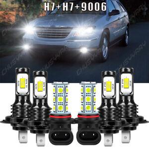 For Chrysler Crossfire 2004 - 2007 2008 Mini 6x LED Headlight + Fog Light Bulbs