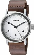 Nixon Men's Stark A11942092-00 42mm White Dial Leather Watch
