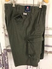 NEW Chaps Cargo Shorts Size 42 100% Cotton Flat Front Casual Outdoor Pockets NWT
