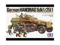 Tamiya 1/35 Scala Hanomag Sd.kfz. 251/1 Ww2 Tedesco Kit Modello
