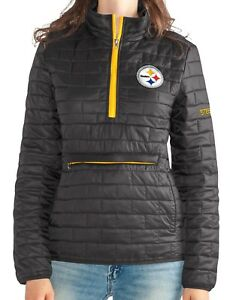 "Pittsburgh Steelers Women's NFL ""Spike"" Half Zip Packable Quilted Jacket"