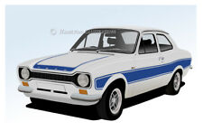 Ford Escort Mk1 Rs2000 Rs 2000 Sport Nevera Imán Blanco