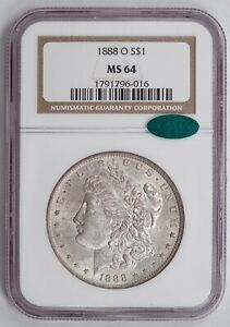 1888-O Morgan Silver Dollar, NGC MS64 CAC, Tougher New Orleans Issue!