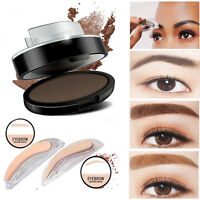 Pro Eyebrow Shadow Definition Makeup Brow Stamp Powder Palette Delicated Natural