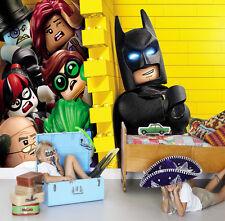 HQ Wall Mural Lego Batman Movie Yellow  Photo Wallpaper Kids Room 127
