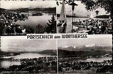 PÖRTSCHACH Wörther See Österreich AK Mehrbildkarte 1955 Austria Postcard