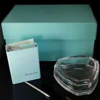 Vintage TIFFANY & CO. Note Cards Stationery Crystal Jewelry Box and Silver Pen