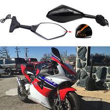 Motorcycle LED Turn Signals Side Mirror For Honda cbr900rr/929rr/954rr Custom MT