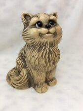 VINTAGE HARD PLASTIC SMILE HAPPY CAT BANK RUBBER STOPPER MEOW!