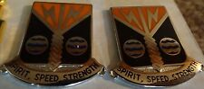 MILITARY INSIGNIA CREST DUI SET OF 2 58TH SIGNAL BATTALION SPIRIT SPEED STRENGTH