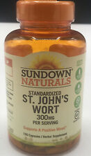 Sundown Naturals Standardized St John s Wort 300 mg 150 Capsules Expires 02/2021