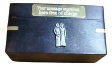 Gemini The Twins Wooden Dominoes in wood Box  FREE ENGRAVING Gift 149