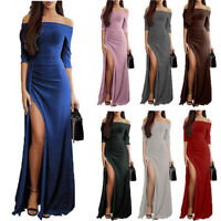 Women Strapless Bridesmaid Long Evening Party Ball Prom Gown Cocktail Dress