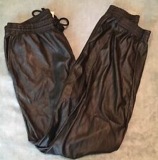 American Apparel Black Poly Joggers Large